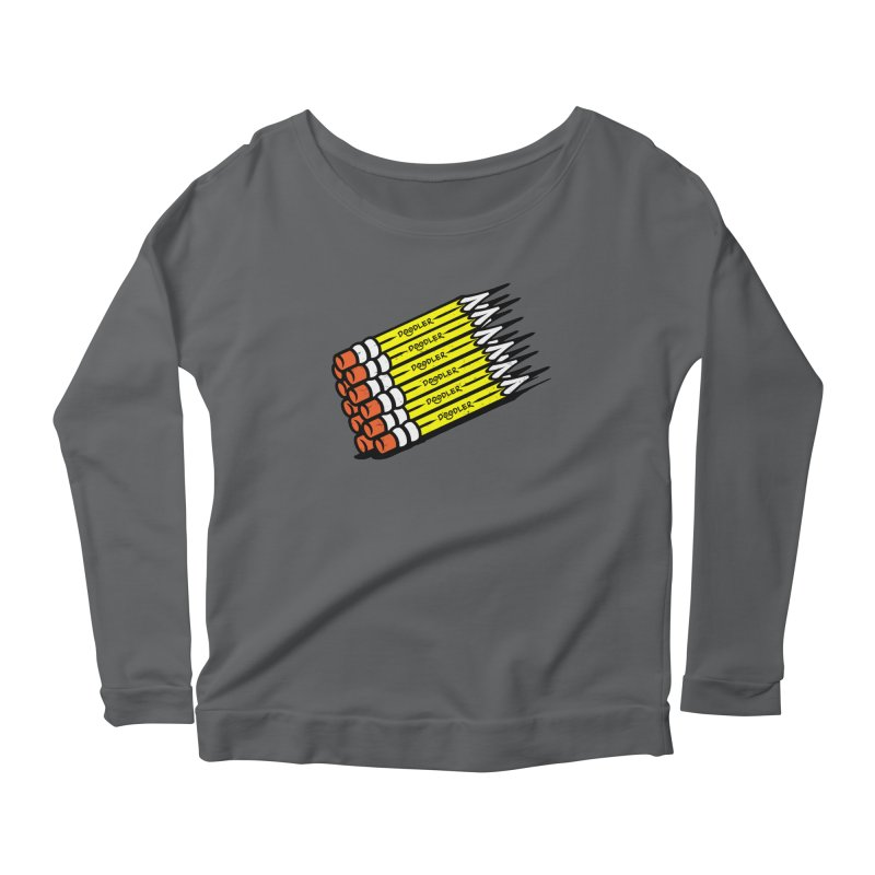 My Pencils Women's Longsleeve Scoopneck  by rskamesado's Artist Shop