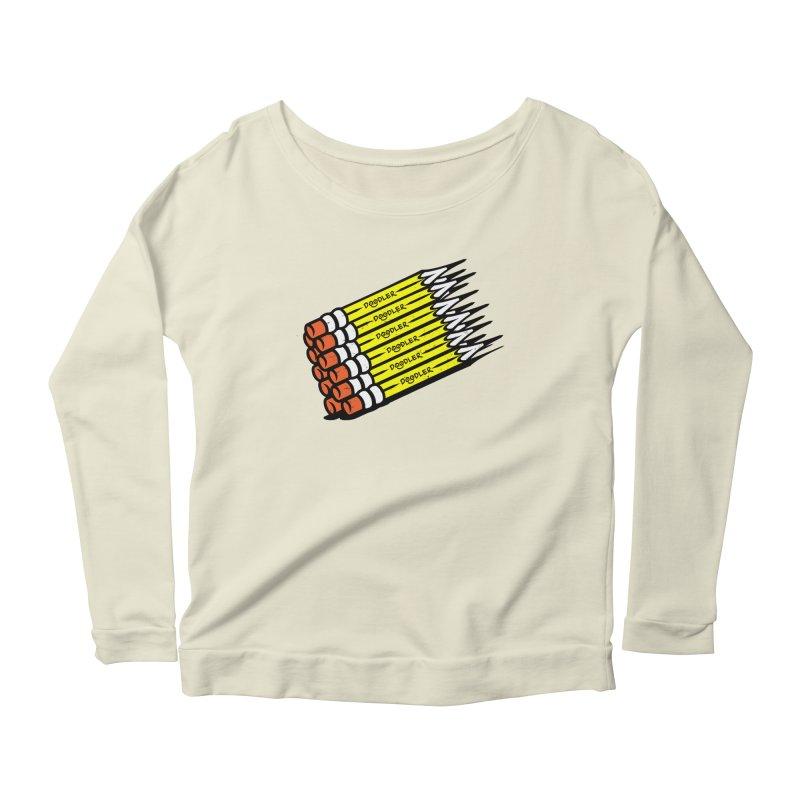 My Pencils Women's Longsleeve Scoopneck  by rskamesado's Artist Shop