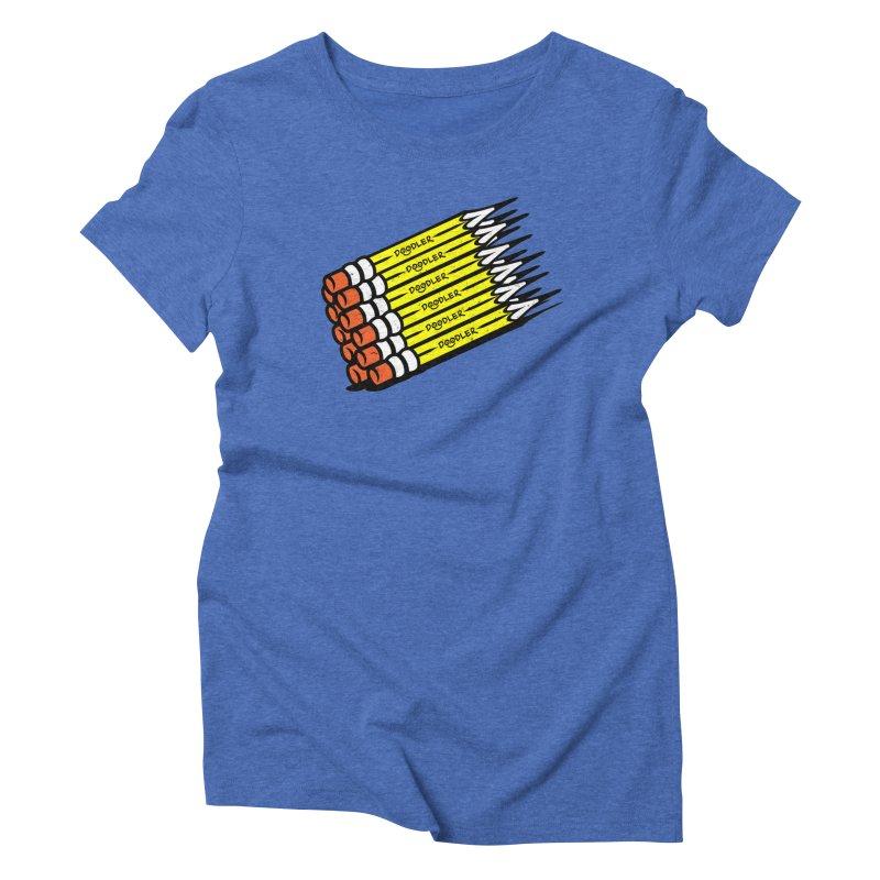 My Pencils Women's Triblend T-shirt by rskamesado's Artist Shop