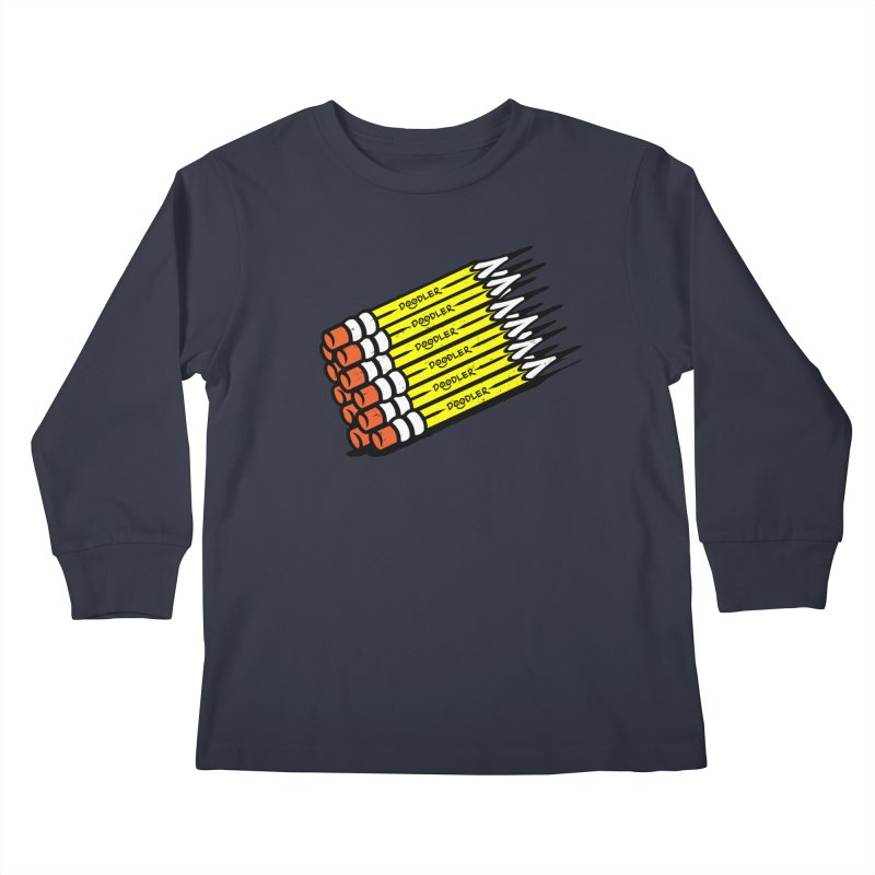 My Pencils Kids Longsleeve T-Shirt by rskamesado's Artist Shop