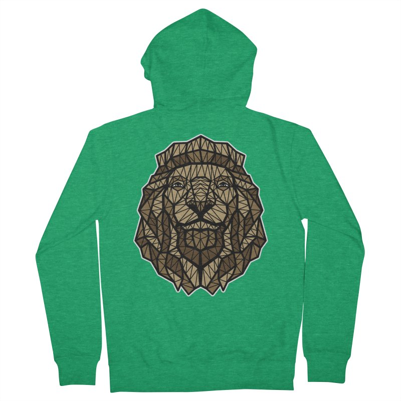 Browny Lion  Women's Zip-Up Hoody by rskamesado's Artist Shop