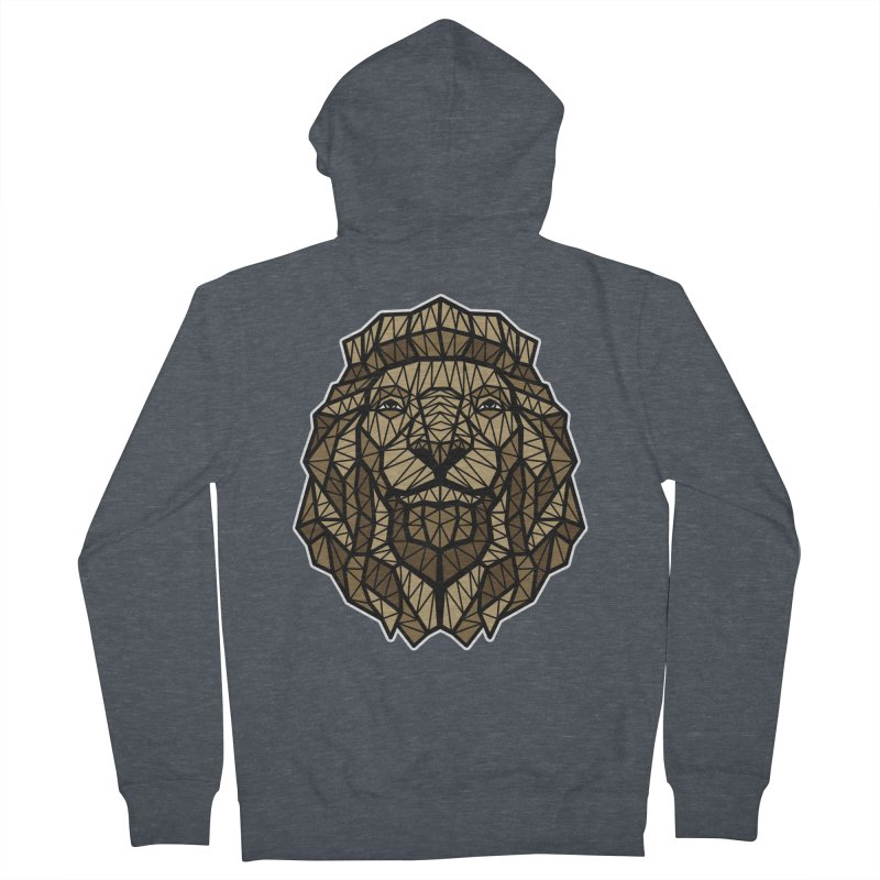 Browny Lion  Men's Zip-Up Hoody by rskamesado's Artist Shop