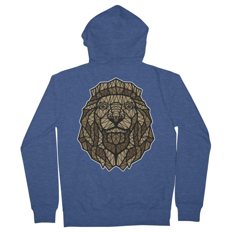Browny Lion  Men's Zip-Up Hoody by rskamesado's Artist Shop