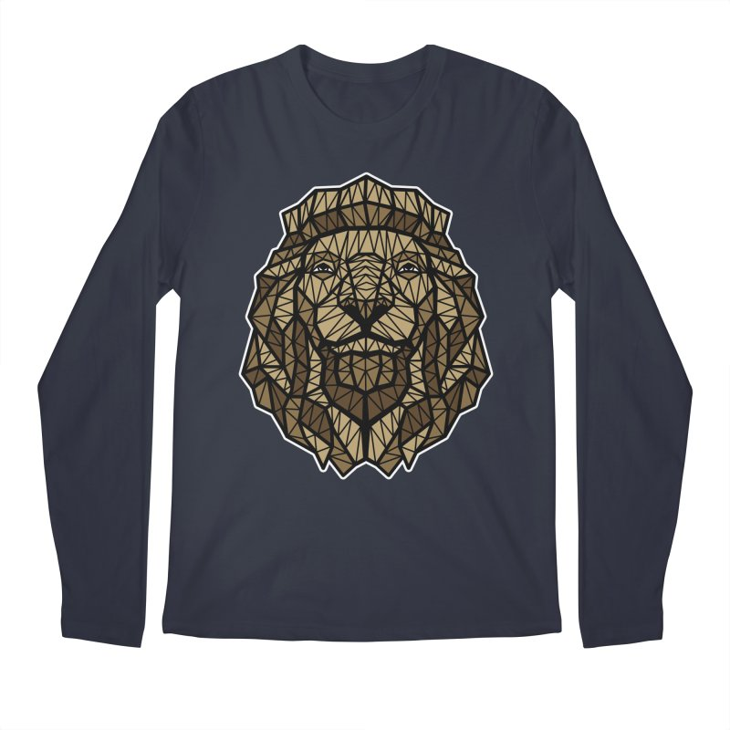 Browny Lion  Men's Longsleeve T-Shirt by rskamesado's Artist Shop