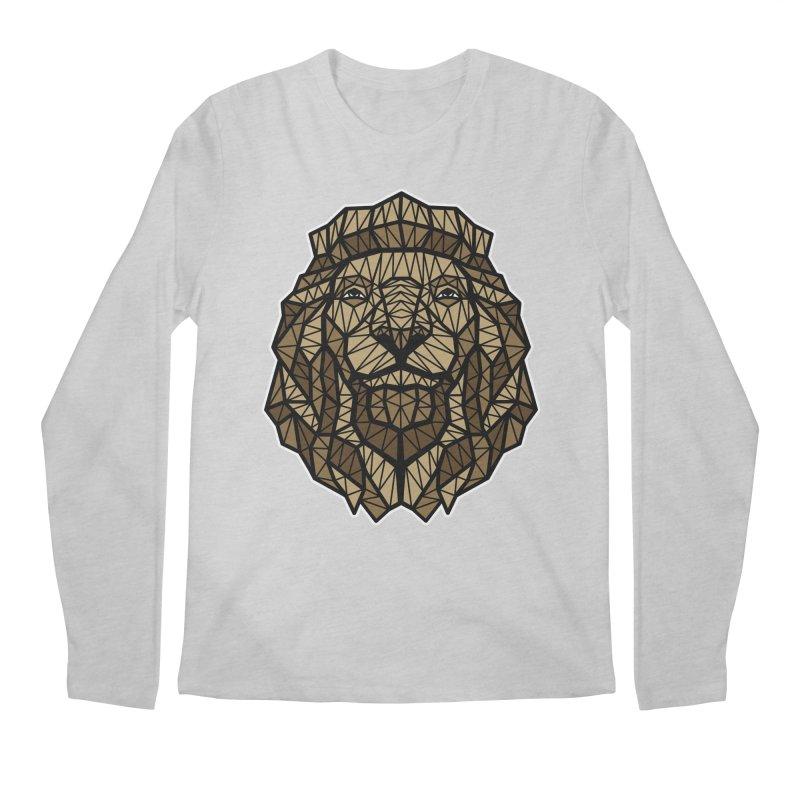 Browny Lion  Men's Longsleeve T-Shirt by rskamesado's Artist Shop
