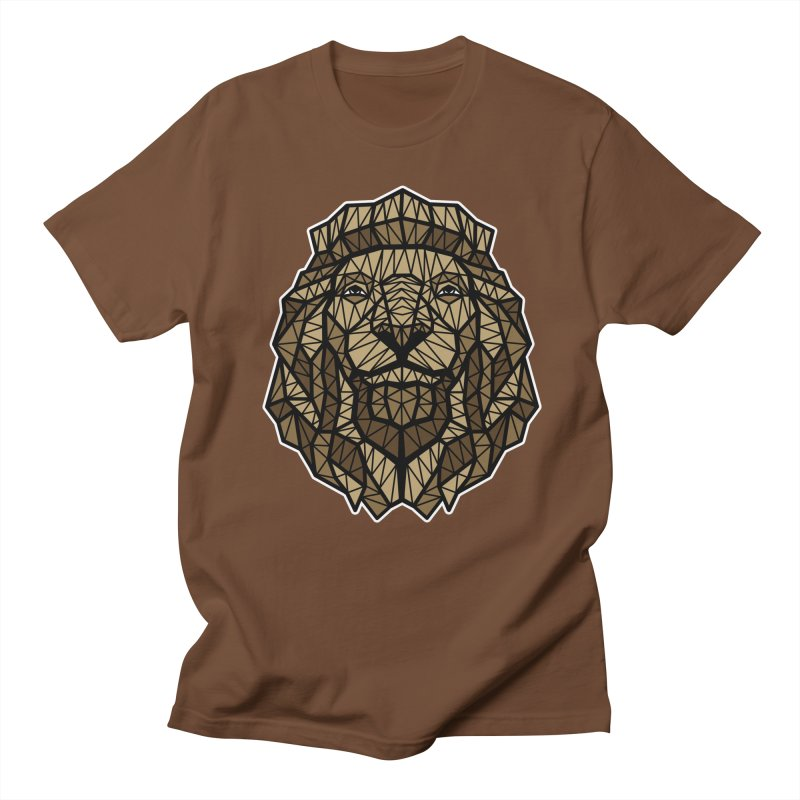 Browny Lion  in Men's T-shirt Brown by rskamesado's Artist Shop