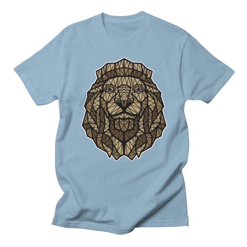 Browny Lion  Men's T-shirt by rskamesado's Artist Shop