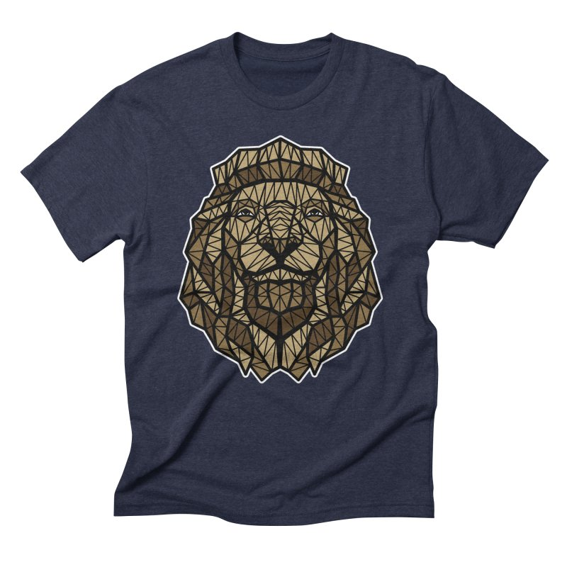 Browny Lion  Men's Triblend T-Shirt by rskamesado's Artist Shop