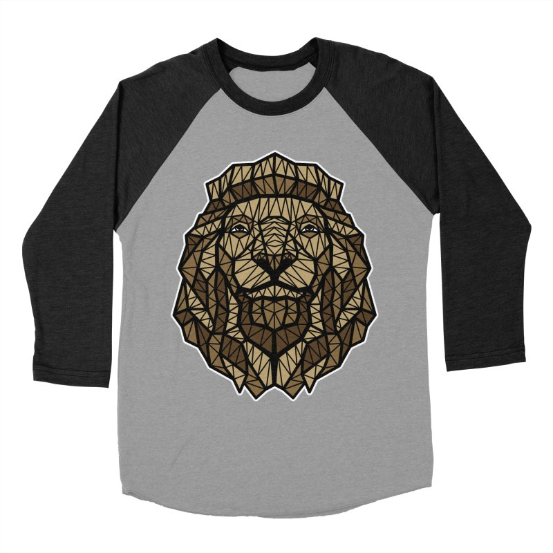 Browny Lion  Women's Baseball Triblend T-Shirt by rskamesado's Artist Shop