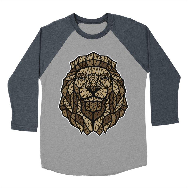 Browny Lion  Women's Baseball Triblend T-Shirt by rskamesado's Artist Shop