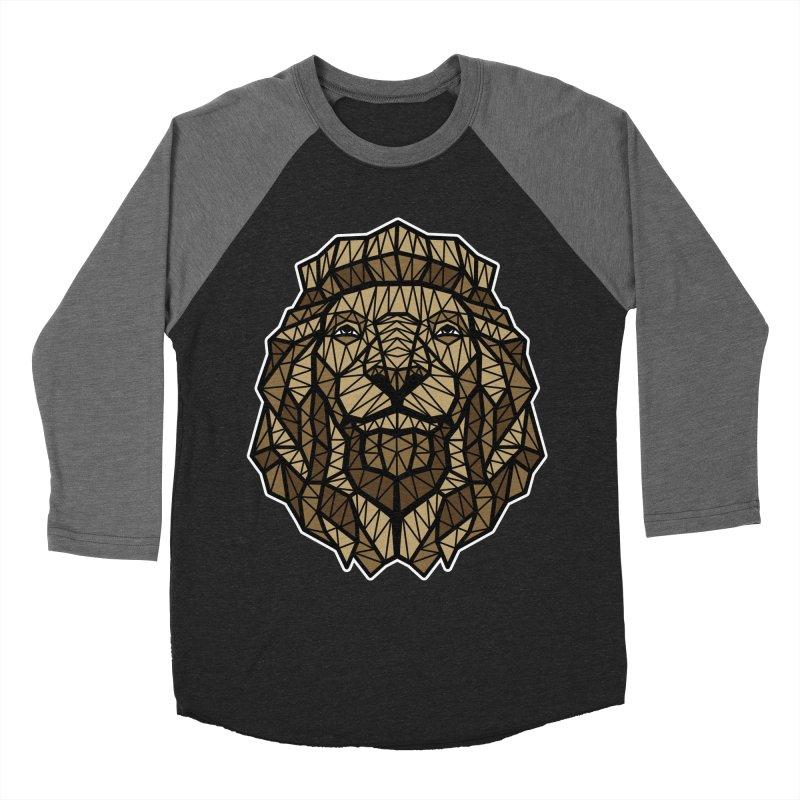 Browny Lion  Men's Baseball Triblend T-Shirt by rskamesado's Artist Shop