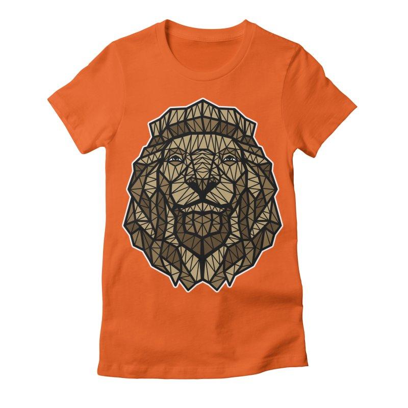 Browny Lion  Women's Fitted T-Shirt by rskamesado's Artist Shop