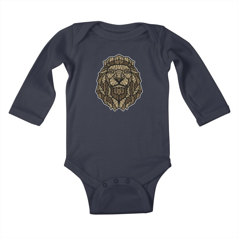 Browny Lion  Kids Baby Longsleeve Bodysuit by rskamesado's Artist Shop