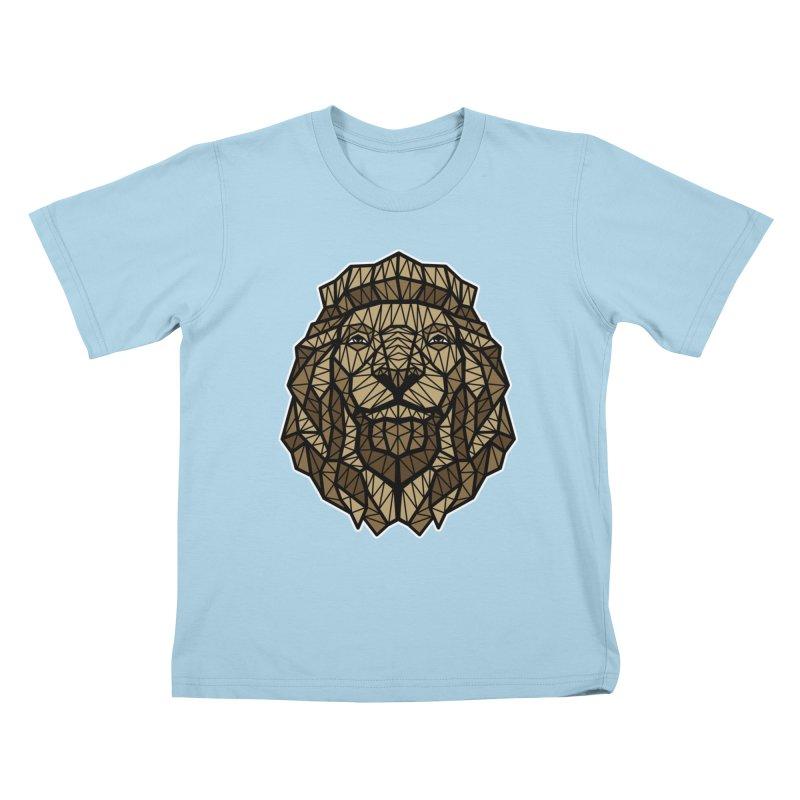 Browny Lion  Kids T-Shirt by rskamesado's Artist Shop