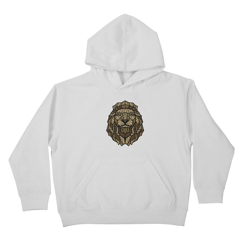 Browny Lion  Kids Pullover Hoody by rskamesado's Artist Shop