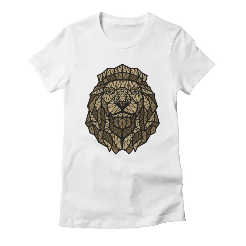 Browny Lion  Women's Fitted T-Shirt by rskamesado's Artist Shop