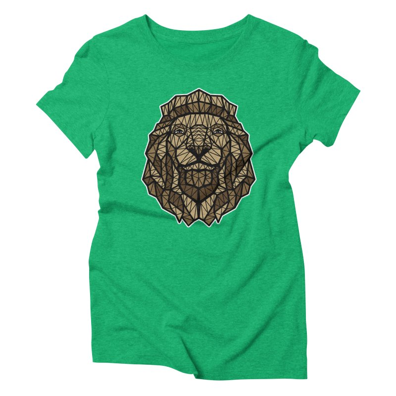 Browny Lion  Women's Triblend T-shirt by rskamesado's Artist Shop