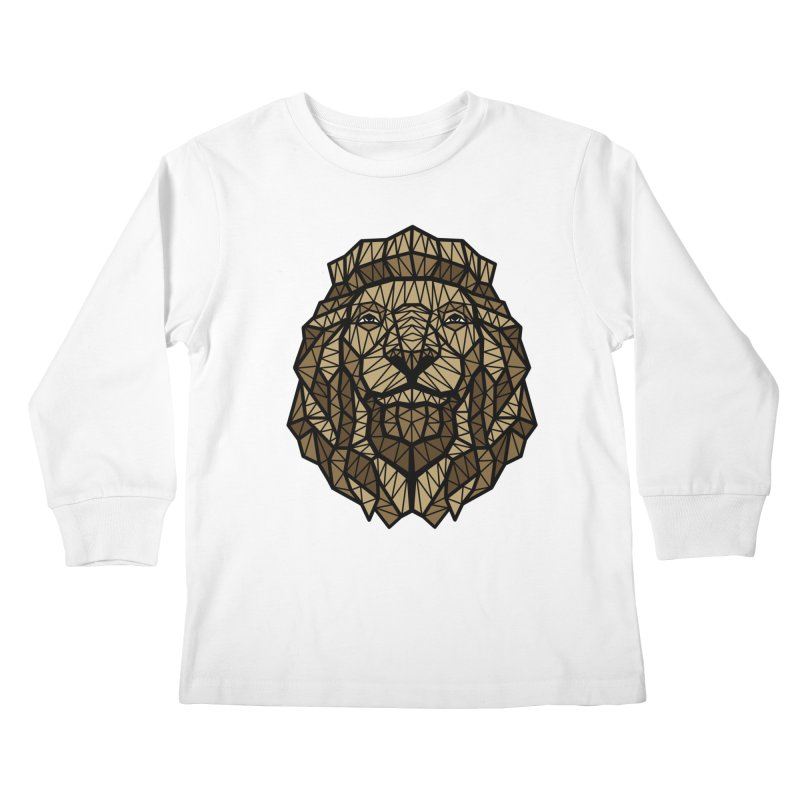 Browny Lion  Kids Longsleeve T-Shirt by rskamesado's Artist Shop