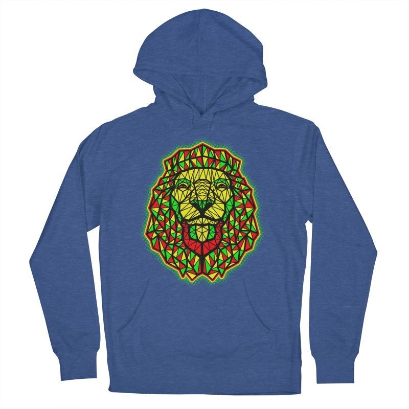 Rasta Geometric Lion Women's Pullover Hoody by rskamesado's Artist Shop