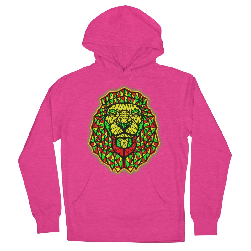 Rasta Geometric Lion Men's Pullover Hoody by rskamesado's Artist Shop