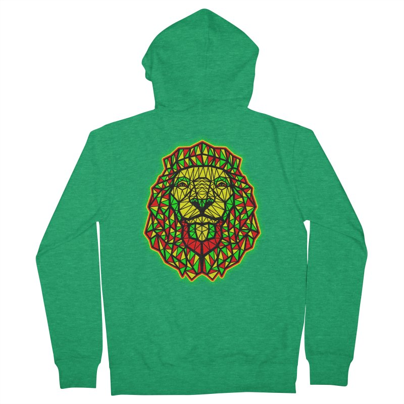 Rasta Geometric Lion Women's Zip-Up Hoody by rskamesado's Artist Shop