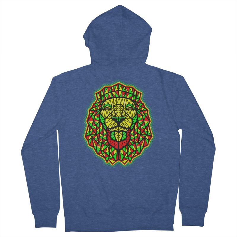 Rasta Geometric Lion Women's Zip-Up Hoody by rskamesado's Artist Shop