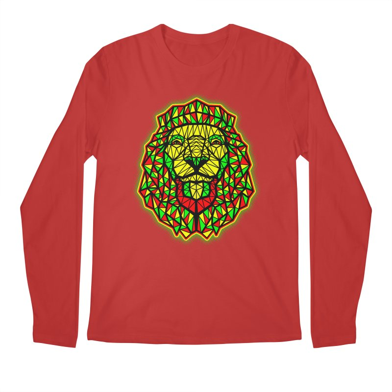 Rasta Geometric Lion Men's Longsleeve T-Shirt by rskamesado's Artist Shop