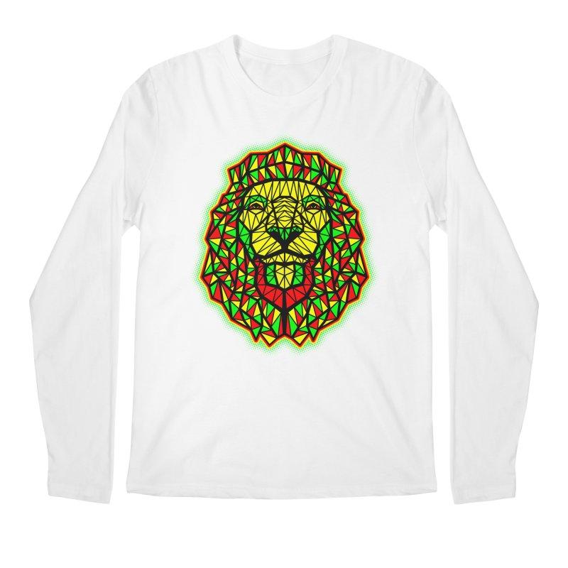 Rasta Geometric Lion Men's Longsleeve T-Shirt by rskamesado's Artist Shop