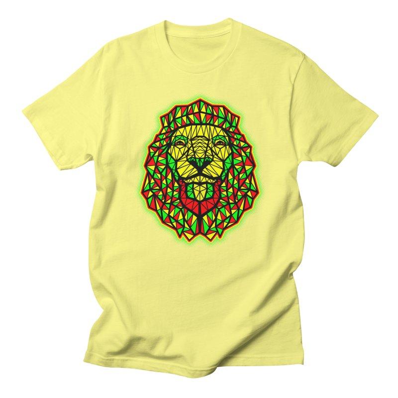 Rasta Geometric Lion Men's T-shirt by rskamesado's Artist Shop