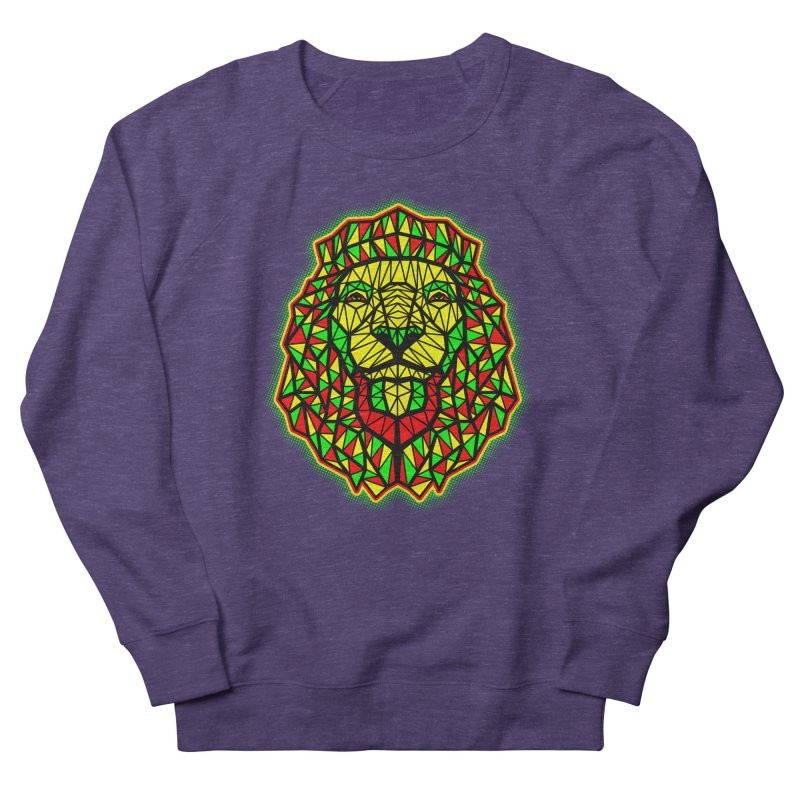 Rasta Geometric Lion Women's Sweatshirt by rskamesado's Artist Shop