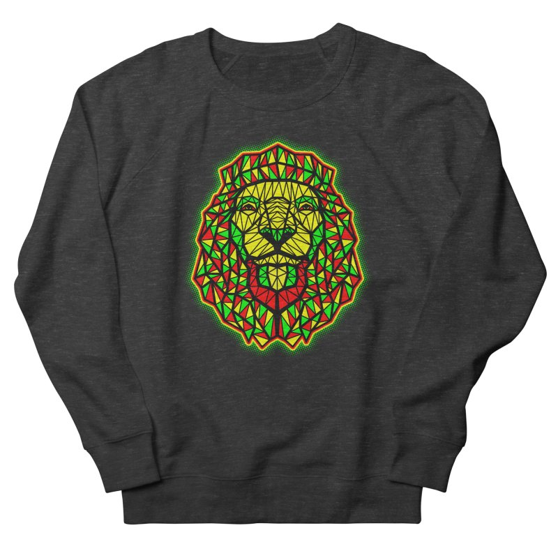 Rasta Geometric Lion Men's Sweatshirt by rskamesado's Artist Shop