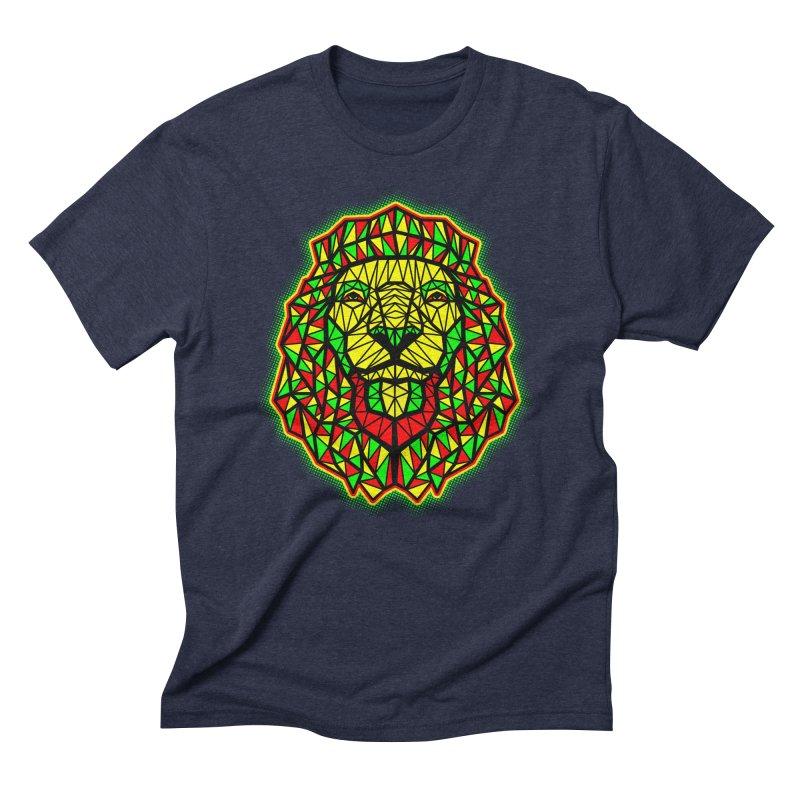 Rasta Geometric Lion Men's Triblend T-Shirt by rskamesado's Artist Shop