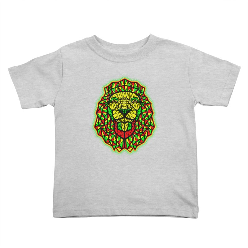 Rasta Geometric Lion Kids Toddler T-Shirt by rskamesado's Artist Shop