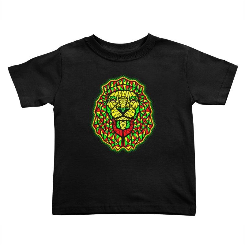 Rasta Geometric Lion Kids Toddler T-Shirt by rskamesado's Artist Shop