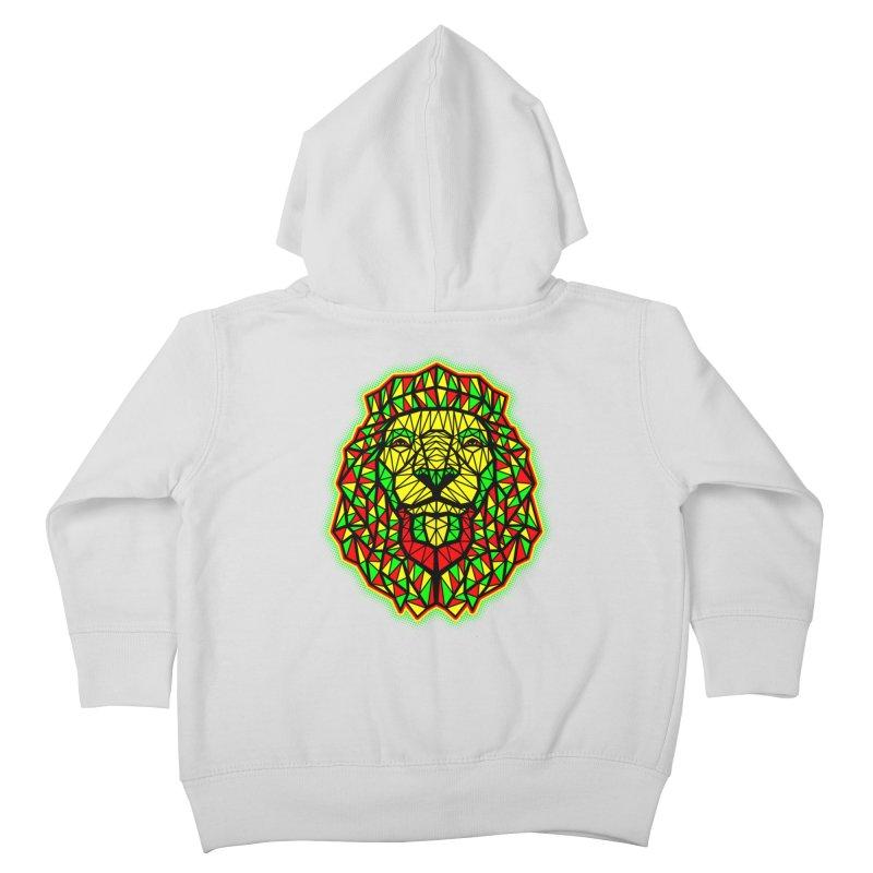 Rasta Geometric Lion Kids Toddler Zip-Up Hoody by rskamesado's Artist Shop