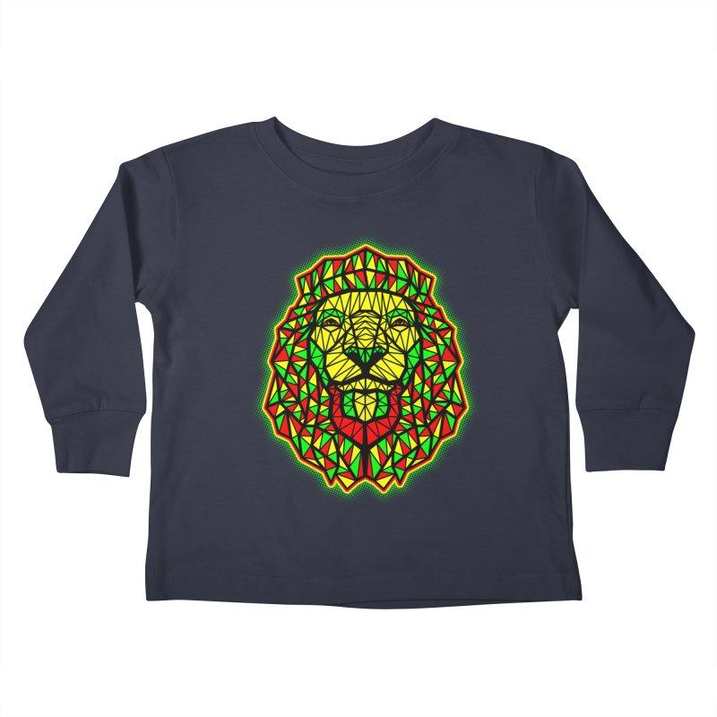 Rasta Geometric Lion Kids Toddler Longsleeve T-Shirt by rskamesado's Artist Shop