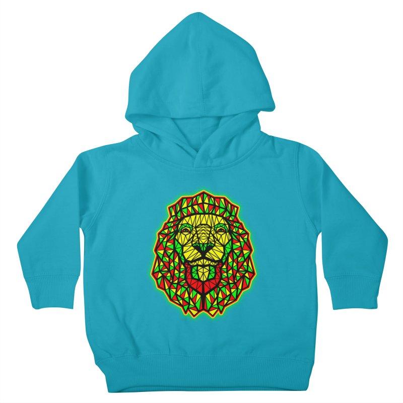 Rasta Geometric Lion Kids Toddler Pullover Hoody by rskamesado's Artist Shop