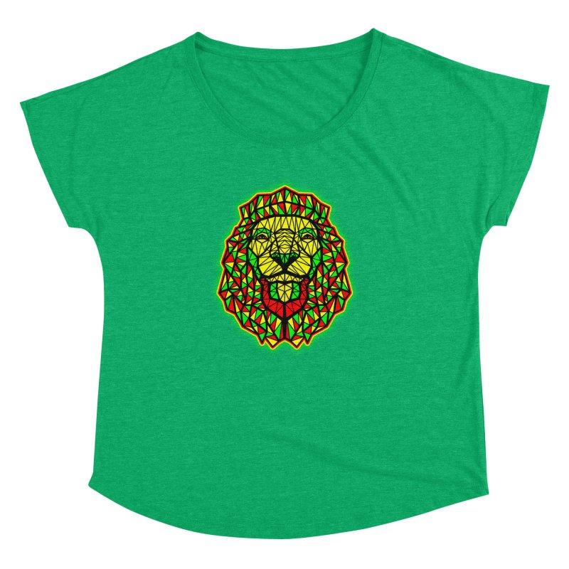 Rasta Geometric Lion Women's Dolman by rskamesado's Artist Shop