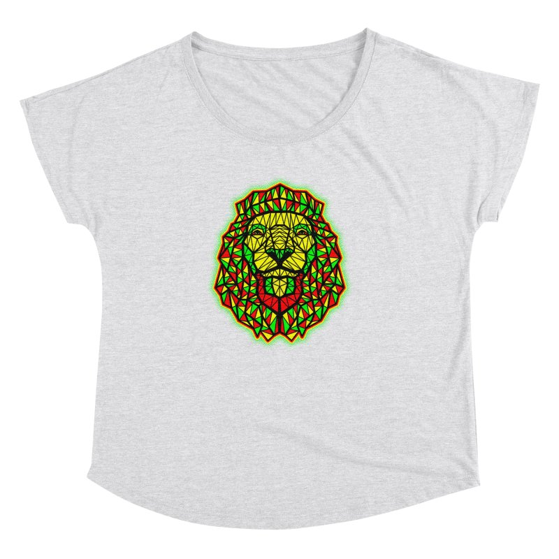 Rasta Geometric Lion Women's Dolman by rskamesado's Artist Shop