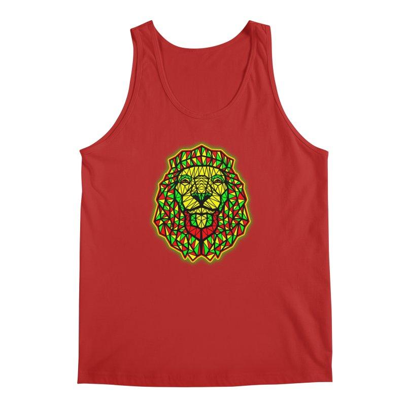Rasta Geometric Lion Men's Tank by rskamesado's Artist Shop
