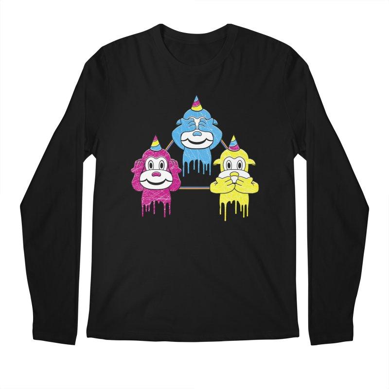 Wise Monkeys Men's Longsleeve T-Shirt by rskamesado's Artist Shop