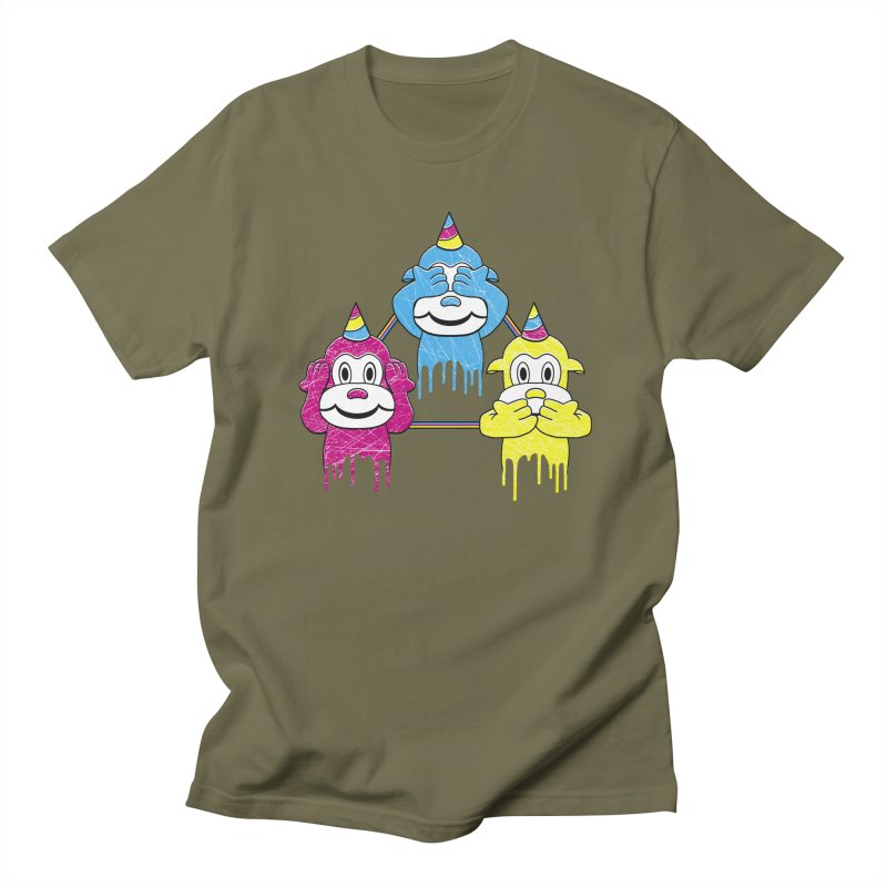 Wise Monkeys Men's T-Shirt by rskamesado's Artist Shop