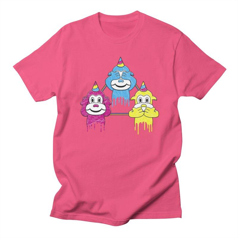 Wise Monkeys Men's T-Shirt by rskamesado's Artist Shop