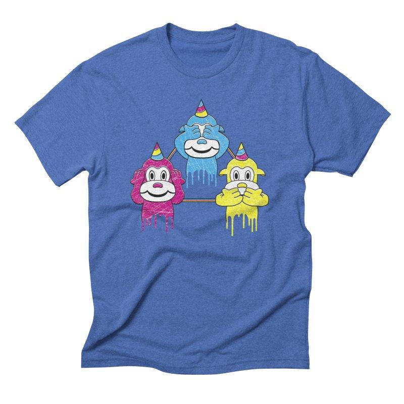 Wise Monkeys Men's Triblend T-Shirt by rskamesado's Artist Shop