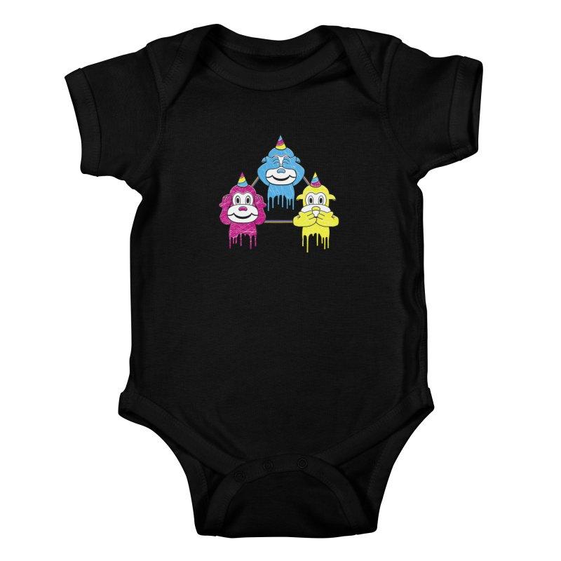Wise Monkeys Kids Baby Bodysuit by rskamesado's Artist Shop