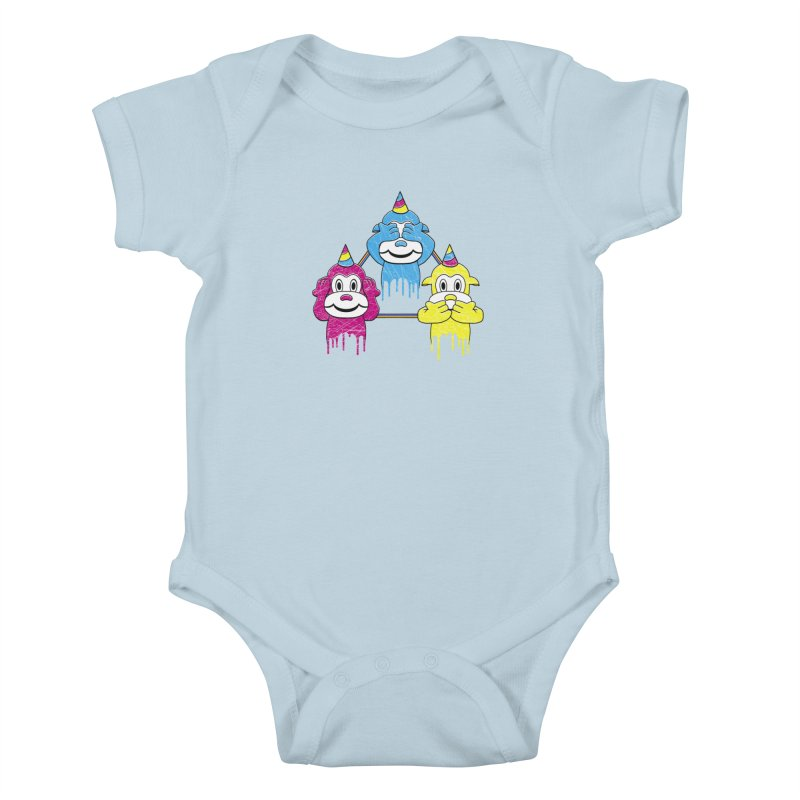 Wise Monkeys Kids Baby Bodysuit by rskamesado's Artist Shop