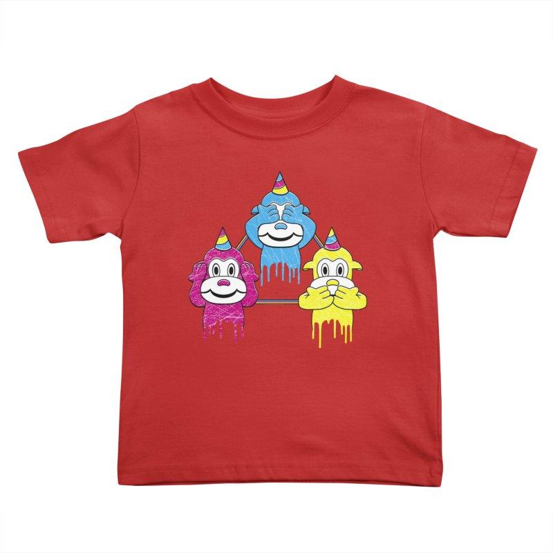 Wise Monkeys Kids Toddler T-Shirt by rskamesado's Artist Shop