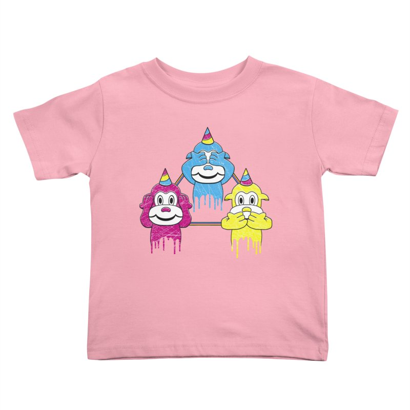 Wise Monkeys Kids Toddler T-Shirt by rskamesado's Artist Shop
