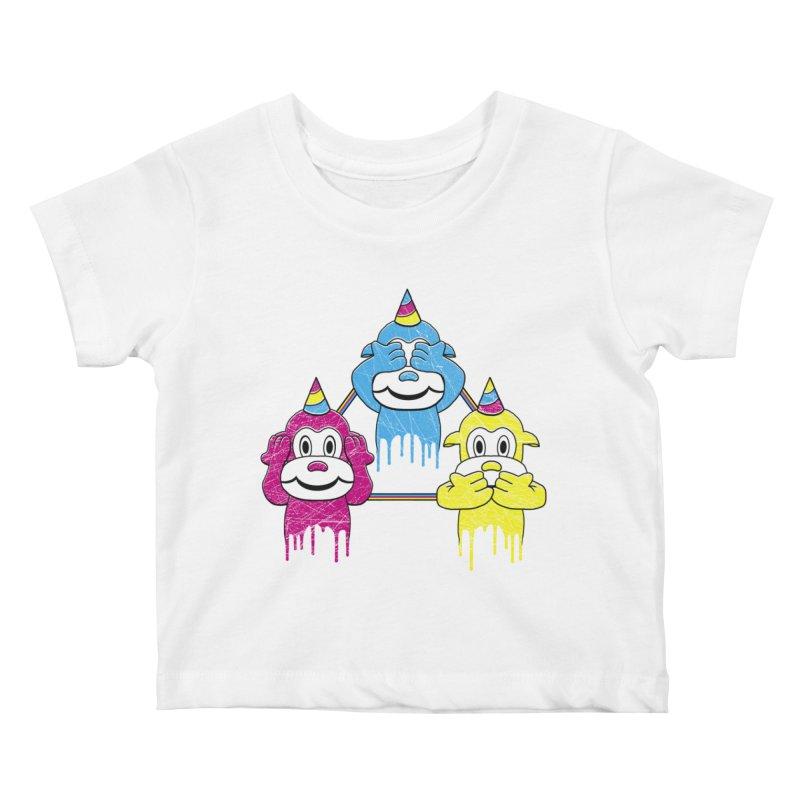 Wise Monkeys Kids Baby T-Shirt by rskamesado's Artist Shop