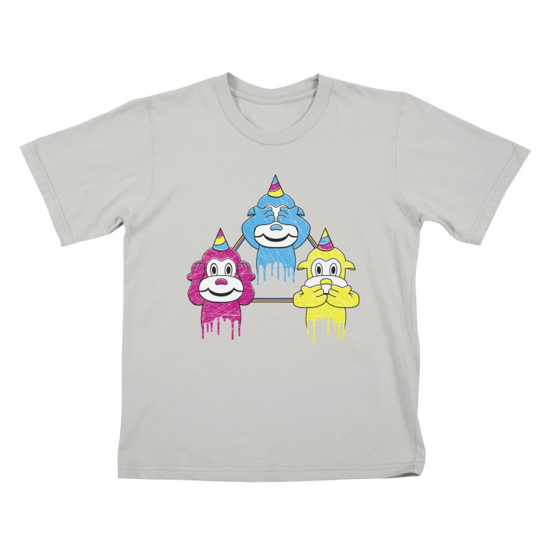 Wise Monkeys Kids T-shirt by rskamesado's Artist Shop